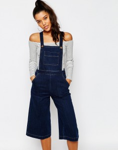 culotte dungarees and bardot top